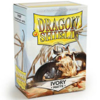 Dragon Shield – 100 protèges cartes standard : Ivoire Mat