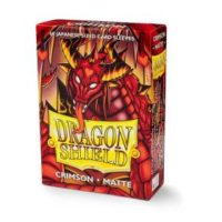 Dragon Shield – 60 protèges cartes Mini : Crimson Mat