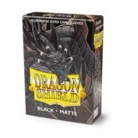 Dragon Shield – 60 protèges cartes Mini : Noir Mat