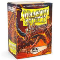 Dragon Shield – 100 protèges cartes standard : Rouge Mat