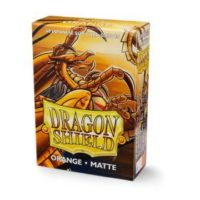 Dragon Shield – 60 protèges cartes Mini : Orange Mat
