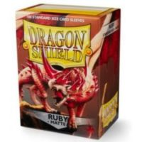 Dragon Shield – 100 protèges cartes standard : Rubis Mat