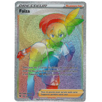 CARTE POKEMON FAIZA FULL ART RAINBOW 193/185 FRANCAISE