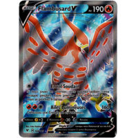 CARTE POKEMON FLAMBUSARD V FULL ART 168/185 FRANCAISE