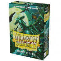 Dragon Shield – 60 protèges cartes Mini : Olive Mat