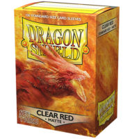 Dragon Shield – 100 protèges cartes standard : Clear Red Mat