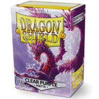 Dragon Shield – 100 protèges cartes standard : Clear Purple Mat