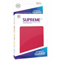 Ultimate Guard 80 pochettes Supreme UX Taille Standard : Rouge